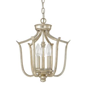 Bailey Winter Gold Three-Light Foyer Fixture