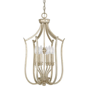 Bailey Winter Gold Six-Light Foyer Fixture