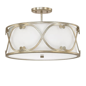 Alexander Winter Gold Three-Light Semi Flush