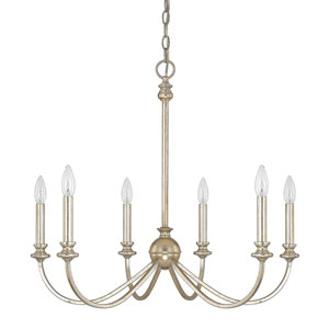 Alexander Winter Gold Six-Light Chandelier