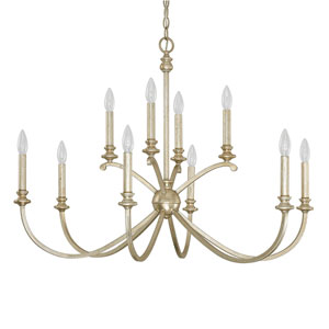 Alexander Winter Gold Ten-Light Thirty-Six-Inch Chandelier