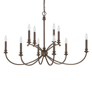 Alexander Burnished Bronze Ten-Light Forty-One-Inch Chandelier