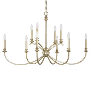 Alexander Winter Gold Ten-Light Forty-One-Inch Chandelier