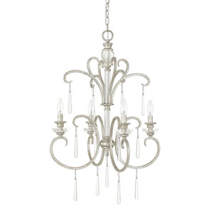 Celine Antique Silver Four-Light Foyer Fixture