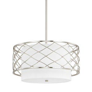 Sawyer Brushed Nickel Three-Light Pendant