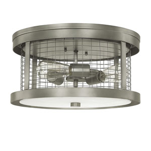 Davis Graphite Three-Light Semi-Flush Mount