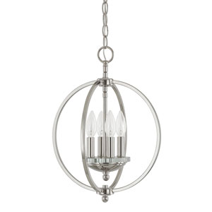 Perry Polished Nickel Four-Light Pendant