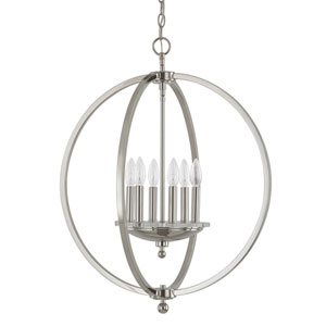 Perry Polished Nickel Six-Light Pendant