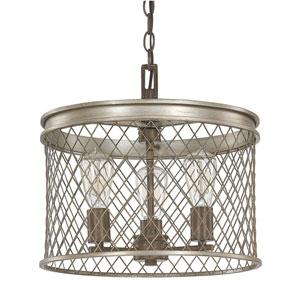 Eastman Silver and Bronze Three-Light Pendant