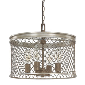Eastman Silver and Bronze Four-Light Pendant
