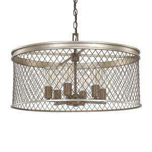 Eastman Silver and Bronze Six-Light Pendant