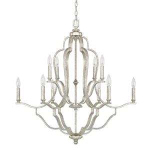 Blair Antique Silver Ten-Light Chandelier