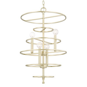 Aurora Soft Gold Four-Light Foyer