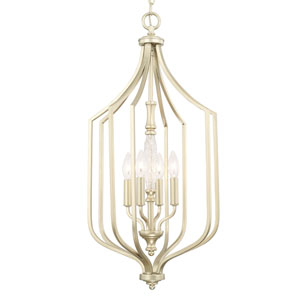 Seaton Soft Gold Four-Light 15-Inch Wide Foyer