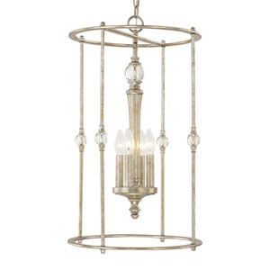 Carlyle Gilded Silver Four-Light Foyer
