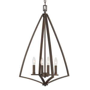Boden Burnished Bronze Four-Light Foyer