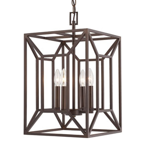 Foyers Burnished Bronze Four-Light 12-Inch Wide Foyer
