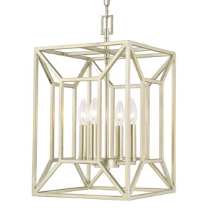 Foyers Soft Gold Four-Light 12-Inch Wide Foyer