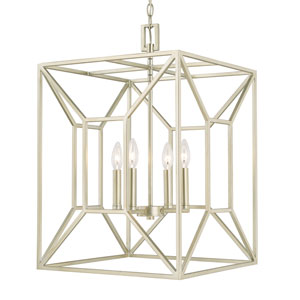 Foyers Soft Gold Four-Light 17-Inch Wide Foyer