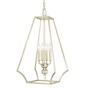 Olivia Winter Gold Four-Light 15-Inch Wide Foyer