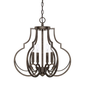 Sinclaire Renaissance Brown Four-Light Pendant