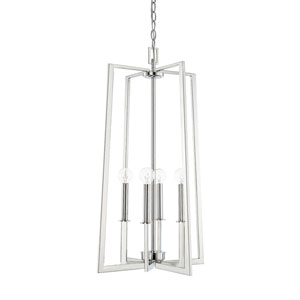City Polished Nickel Four-Light Pendant