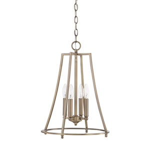 Dawson Aged Brass 14-Inch Four-Light Pendant