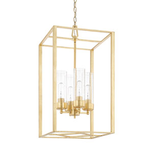 Regan Capital Gold 28-Inch Four-Light Pendant