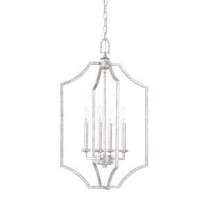 Oxford Silver Patina Four-Light Pendant