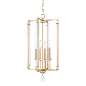 Milan Capital Gold 31-Inch Four-Light Pendant