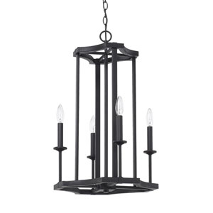 Ravenwood Black Iron Four-Light Pendant