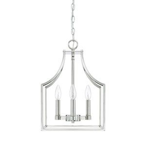 Wright Polished Nickel 12-Inch Four-Light Pendant