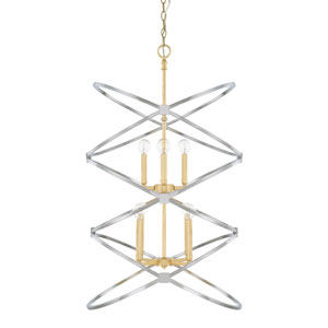 Fire and Ice Eight-Light Pendant