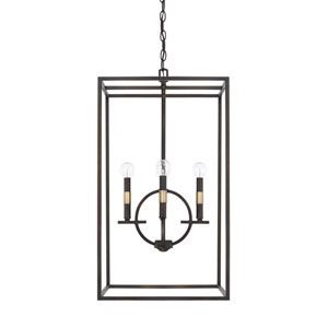 Cole Aged Brass and Old Bronze16-Inch Four-Light Pendant