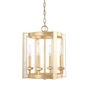 Abella Capital Gold 14-Inch Four-Light Pendant