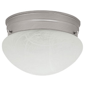 Matte Nickel Flush Mount Ceiling Light