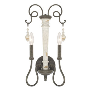 Vineyard French Country Two-Light Wall Sconce