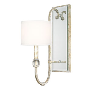 Charleston Silver and Gold Leaf One-Light Wall Sconce