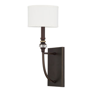 Asher Champagne Bronze One-Light Wall Sconce