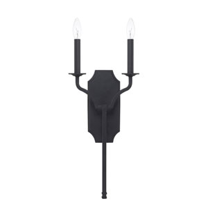 Ravenwood Black Iron Two-Light Sconce