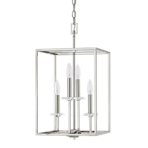 Morgan Polished Nickel Four-Light Twelve-Inch Pendant