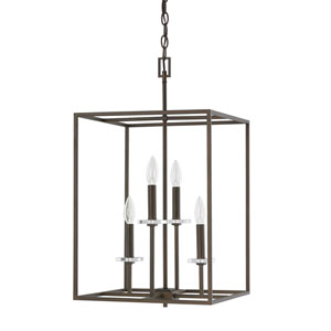 Morgan Burnished Bronze Four-Light Fifteen-Inch Pendant
