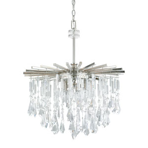 Carrington Polished Nickel Six-Light Twenty-Two-Inch Chandelier
