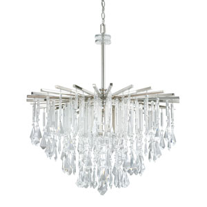Carrington Polished Nickel Six-Light Thirty-Inch Chandelier