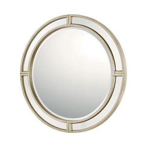 Mirrors Winter Gold Round Mirror