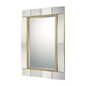 Mirrors Gold Leaf 33-Inch Rectangular Mirror