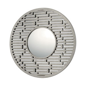 Mirrors Antique Silver Round Mirror