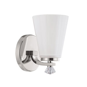 Alisa Polished Nickel One Light Sconce