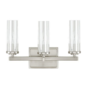 Emery Brushed Nickel Three-Light Vanity