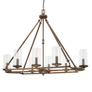 Avanti Rustic Eight-Light Chandelier